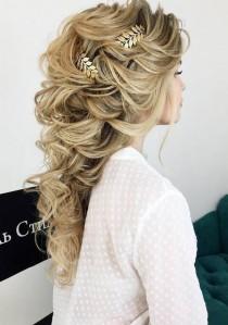 wedding photo - 65 Long Bridesmaid Hair & Bridal Hairstyles For Wedding 2017