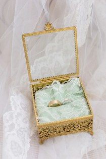 wedding photo - Gold And Mint Vintage Wedding