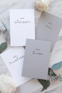 wedding photo - These Simple   Chic FREE Printable Table Numbers Are Fab!