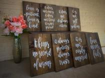 wedding photo - Love is Patient, Love is Kind aisle signs