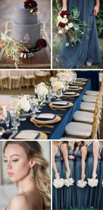 wedding photo - Fall Bridal Trend: Shades Of Blue