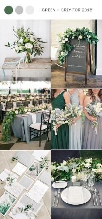 wedding photo - Trending-21 Elegant Green And Grey Wedding Color Ideas For 2018