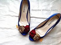 wedding photo - wedding shoes,quirky shoes, something blue,bridal shoes, the bride,wedding, bride shoes, bridesmaids shoes, shabby chic, Marie Antoinette
