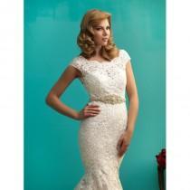 wedding photo - Allure Gold or Silver Beaded Bridal Sash S102 - Crazy Sale Bridal Dresses