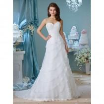 wedding photo - Enchanting by Mon Cheri 216155 Wedding Dress - Sweetheart Wedding A Line Enchanting By Mon Cheri Long Dress - 2017 New Wedding Dresses