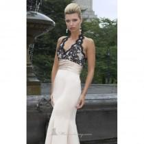 wedding photo - Scalloped Haltered Gown by Alexia Couture 830 New Arrival - Bonny Evening Dresses Online