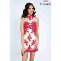 wedding photo - JVN99960 High Neck Jovani Homecoming Dress - Brand Prom Dresses