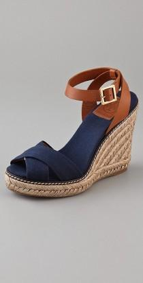 wedding photo - Crisscross Wedge Espadrilles