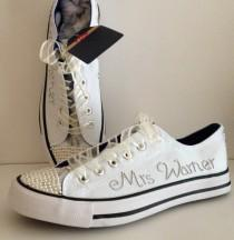 wedding photo - Wedding Trainers - Wedding Sneakers - Wedding Shoes - Wedding Accessories - Occasion Shoes - Bridal Footwear - Personalised - Handmade