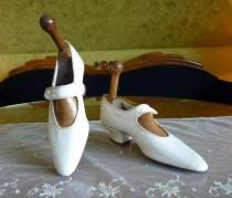 wedding photo - 1910 Wedding Shoes, antique shoes, Edwardian shoes, Bridal shoes