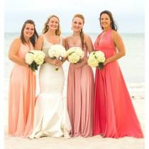 "wedding photo - Glamorous Ombre Bridesmaids Gowns - Full, fabulous, flowing ""Infinity"" style gowns available in hundreds of colors - Hand-made Beautiful Dresses"