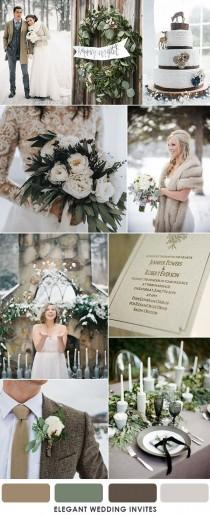wedding photo - How To Choose Brown As Your Wedding Colors By Season