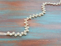 wedding photo - Bridal Belt, Pearl Bridal Belt, Bridal Sash Belt, Pearl Wedding Belt, Wedding Dress Belt, Wedding Dress Sash