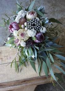 wedding photo - Protea & Native Wedding Bouquets