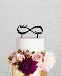 wedding photo - Wedding Cake Topper,Infinity Cake Topper With Two Names,Custom Cake Topper,Personalized Cake Topper,Love Cake Topper,Name Cake Topper