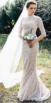 wedding photo - 24 Of The Most Gorgeous Lace Wedding Dresses With Sleeves