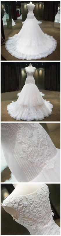 wedding photo - Luxury Mermaid Wedding Dress With C