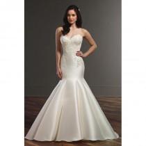 wedding photo - Style 853 by Martina Liana - Ivory  White Lace  Silk Floor Sweetheart  Strapless Fishtail  Mermaid  Trumpet Wedding Dresses - Bridesmaid Dress Online Shop