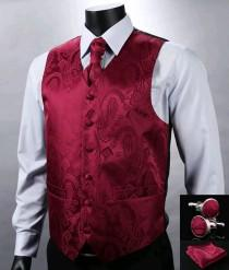 wedding photo - Men Luxury Waistcoat Set