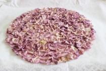 "wedding photo - Round Lavender Rose Petal Mat 14"" Weddings / Centerpiece / Showers / Garden Party"