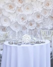 wedding photo - Luxury Paper Flowers - Large Paper Flowers - Wedding Backdrop - Paper Flower Backdrop - Giant Paper Flowers