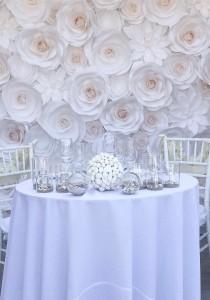 wedding photo - Large Paper Flowers - Wedding Backdrop - Paper Flower Backdrop - Wedding Decoration