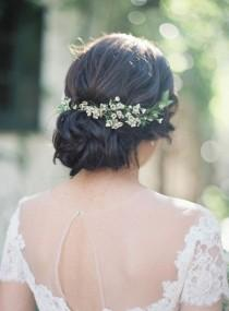 wedding photo - Head In Flowers