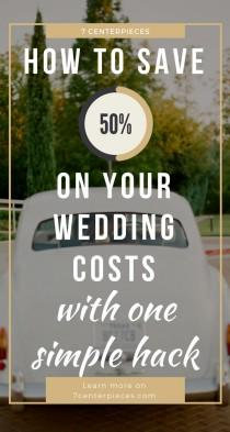wedding photo - How To Save 50% On Your Wedding Costs With One Simple Hack