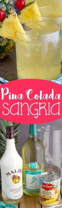 wedding photo - Pina Colada Sangria