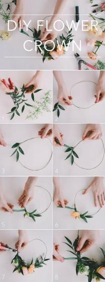 wedding photo - How To DIY And Wear A Flower Crown For Your Wedding