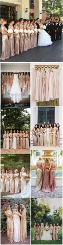 wedding photo - Sequin Bridesmaid Dresses