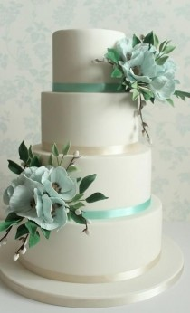 wedding photo - 3 AQUA / TEAL Wedding Cakes