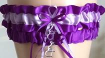 wedding photo - Purple and Orchid Wedding Garter Set, Bridal Garter Sets, Prom Garter, Keepsake Garter, Wedding Gift, Bridal Shower, Engagement