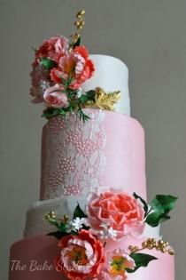 wedding photo - Pink Wedding Cake