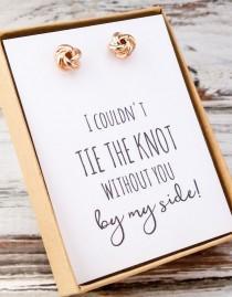 wedding photo - Bridesmaid Earring Gift