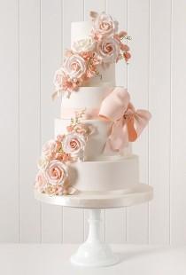 wedding photo - White Floral Cake