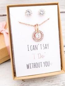 wedding photo - Bridesmaid Jewelry Set