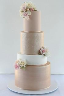 wedding photo - Gold Cake