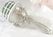 wedding photo - Jeweled bouquet holder. Slver Wedding bouquet. Brooch Bouquet. Broach Bouquet. Great Gatsby wedding. Keepsake Bouquet. Bridesmaid Bouquet