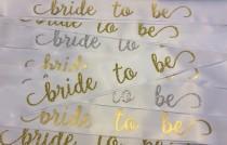 wedding photo - Bride to Be Sash // Satin Ribbon Bridal Sash // Bridal Shower Sash // Bachelorette Party Sash // Bridal Sash // Glitter Bride to Be Sash