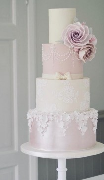 wedding photo - Pastel Wedding Cake