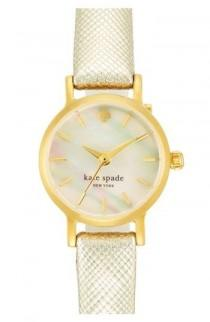 wedding photo - Women's Kate Spade New York 'tiny Metro' Leather Strap Watch, 20mm