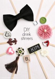 wedding photo - Make Your Own Drink Stir Sticks
