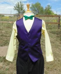 wedding photo - Men's L Hand dyed Joker costume set Shirt, vest, and tie