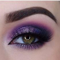 wedding photo - Deep Purple Smokey Eye