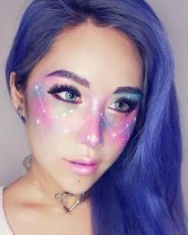 wedding photo - Galaxy Inspired Makeup