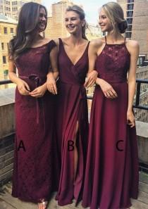 wedding photo - Bordeoux Bridesmaid Dress