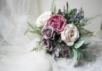 wedding photo - Blush rustic bouquet, keepsake bouquet, boho blush bouquet. pastel bouquet, rustic bouquet, romantic bouquet, bohemian bouquet, wedding posy