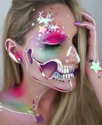 wedding photo - Pop Art Skull Makeup