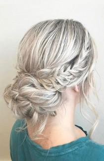 wedding photo - French Crown Braid With Updo Wedding Hairstyle Inspiration